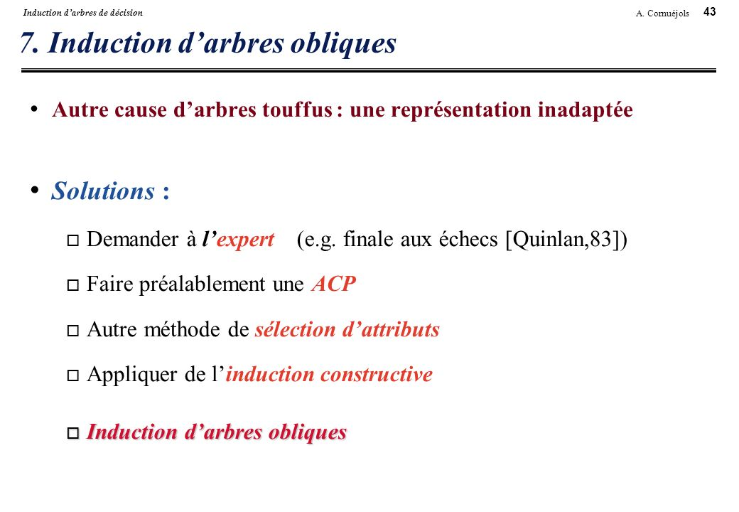 7. Induction d'arbres obliques