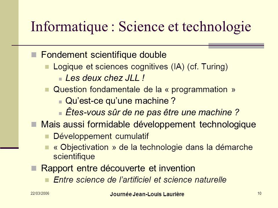 Informatique : Science et technologie
