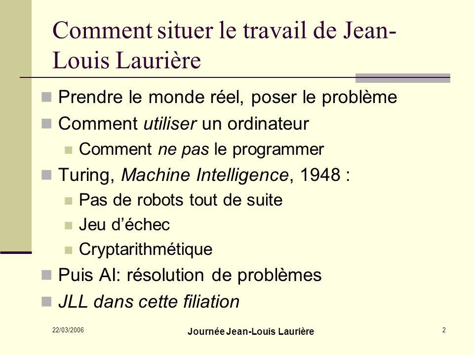 Comment situer le travail de Jean-Louis Laurière