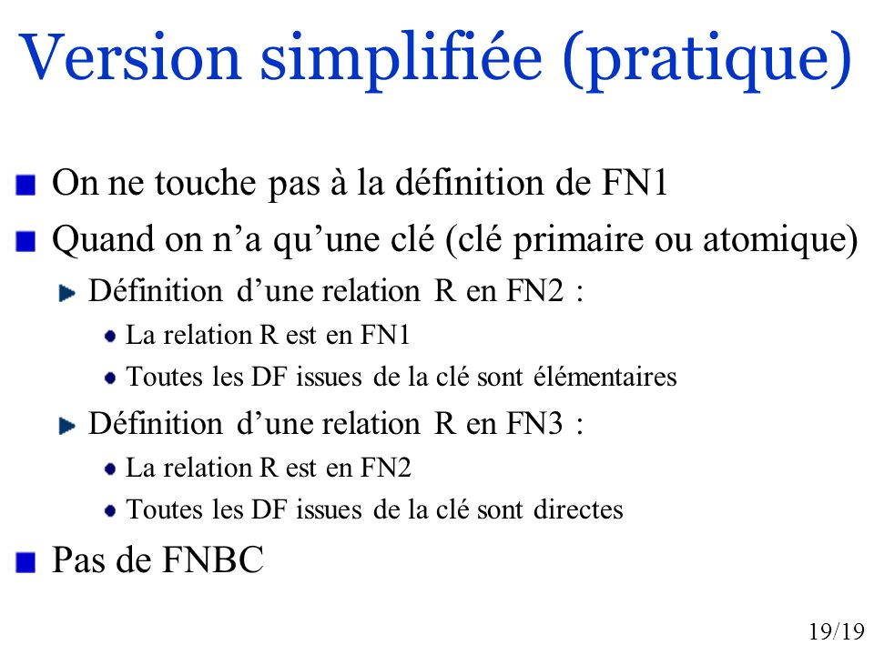 Version simplifiée (pratique)