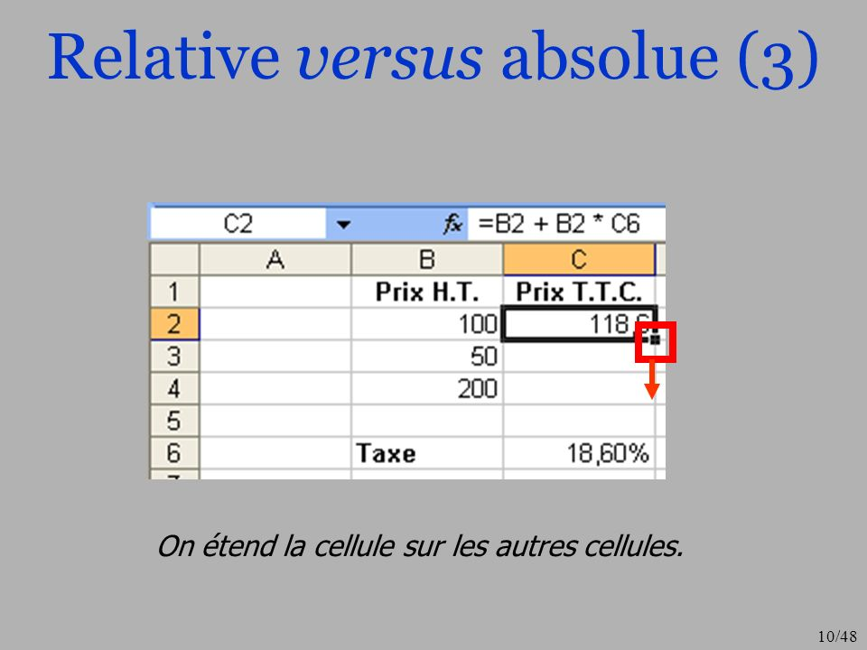 Relative versus absolue (3)