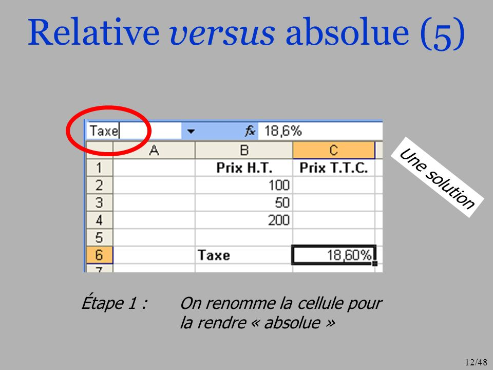Relative versus absolue (5)