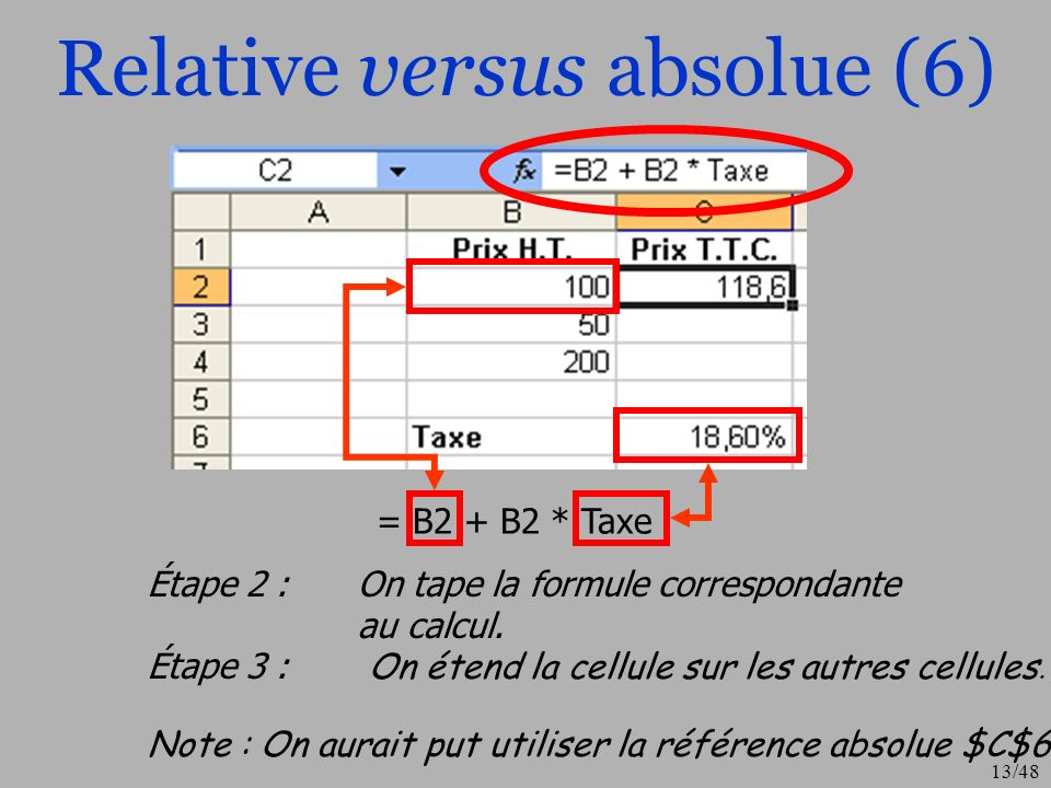 Relative versus absolue (6)