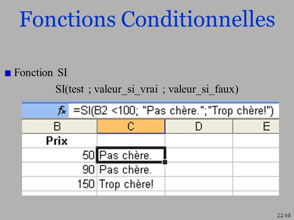Fonctions Conditionnelles