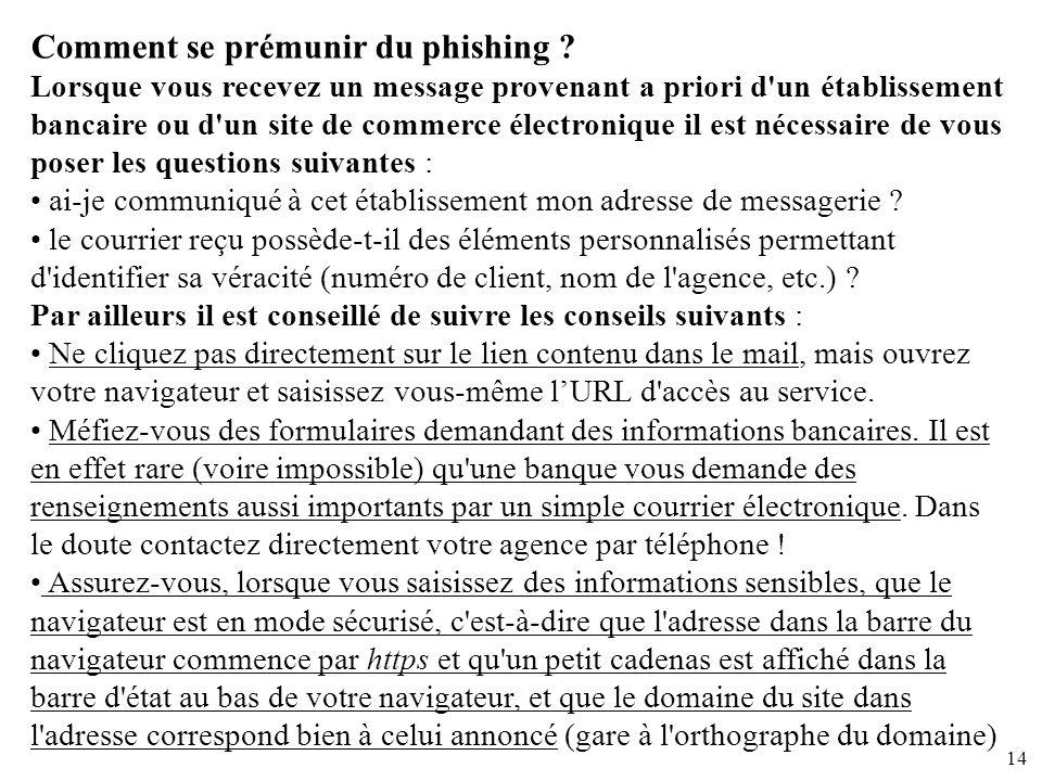 Comment se prémunir du phishing