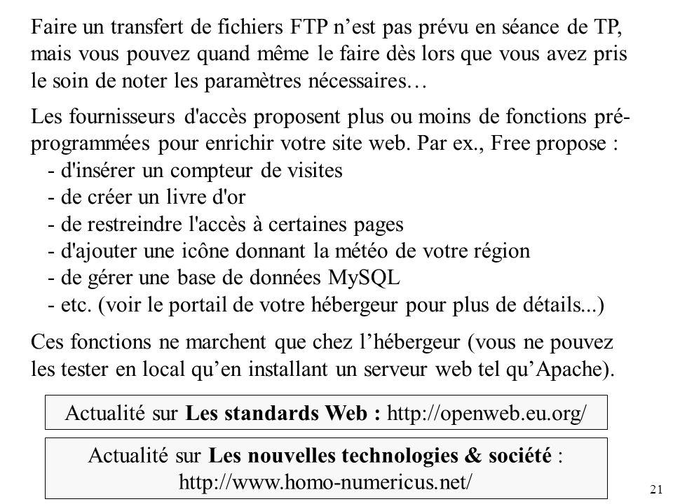 Actualité sur Les standards Web : http://openweb.eu.org/