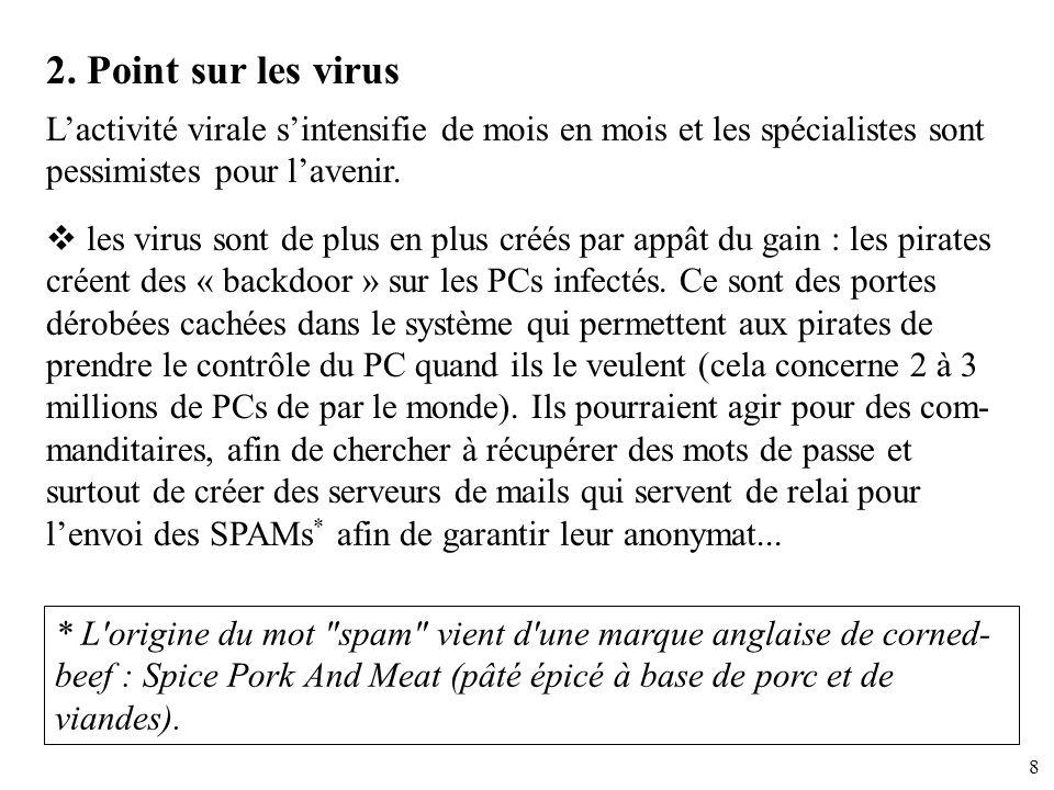 2. Point sur les virus L'activité virale s'intensifie de mois en mois et les spécialistes sont pessimistes pour l'avenir.