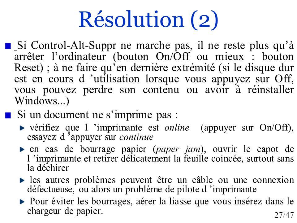 Résolution (2)