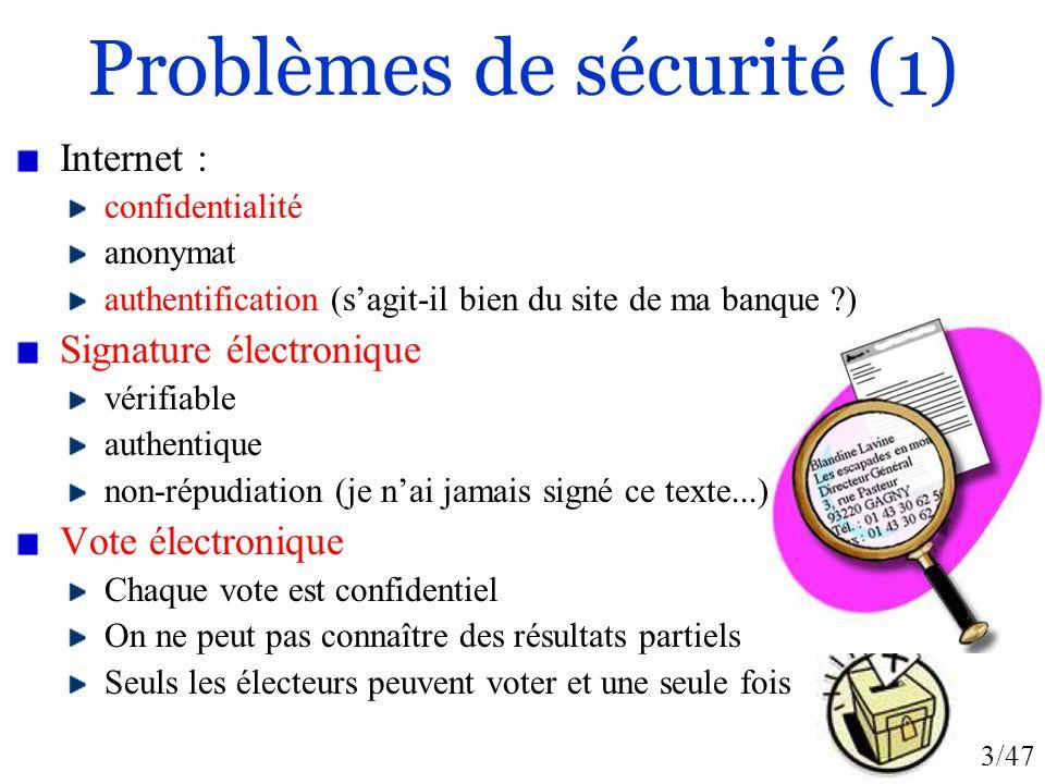 Problèmes de sécurité (1)