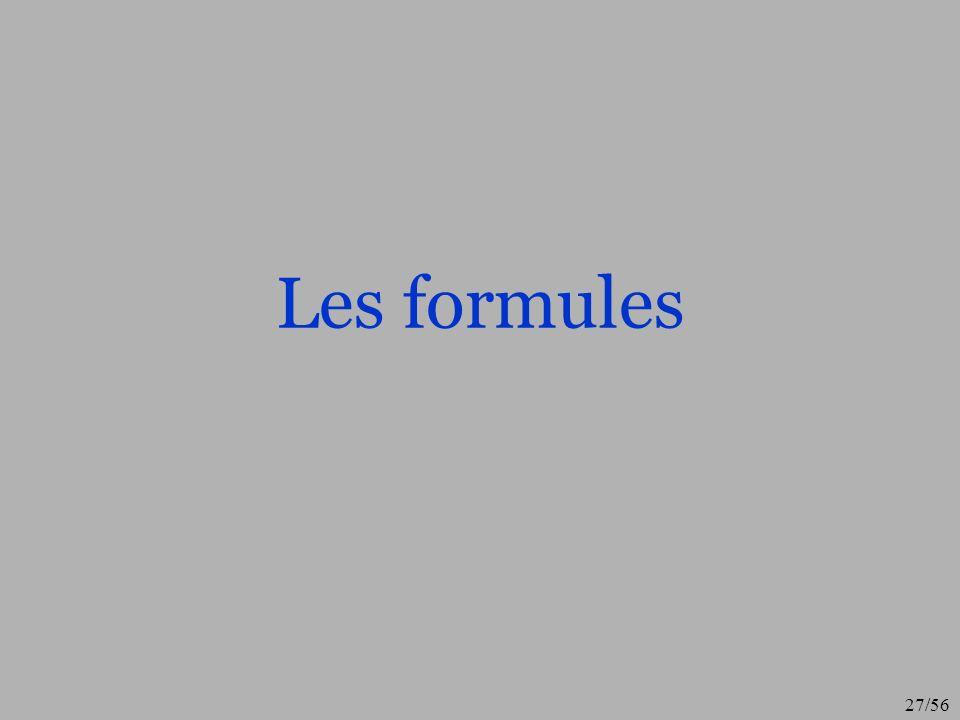Les formules