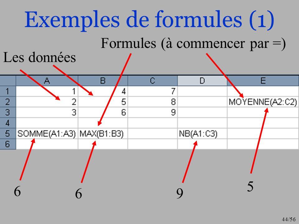 Exemples de formules (1)