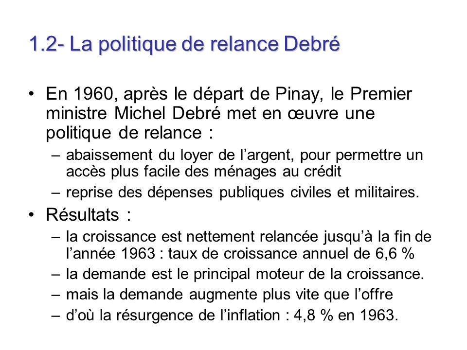 1.2- La politique de relance Debré