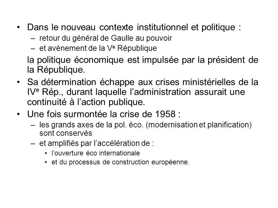 Dans le nouveau contexte institutionnel et politique :