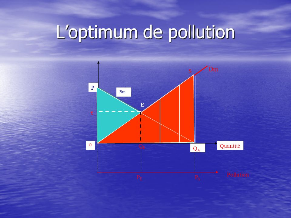 L'optimum de pollution