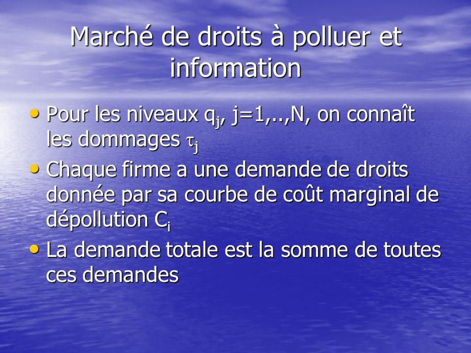 Marché de droits à polluer et information