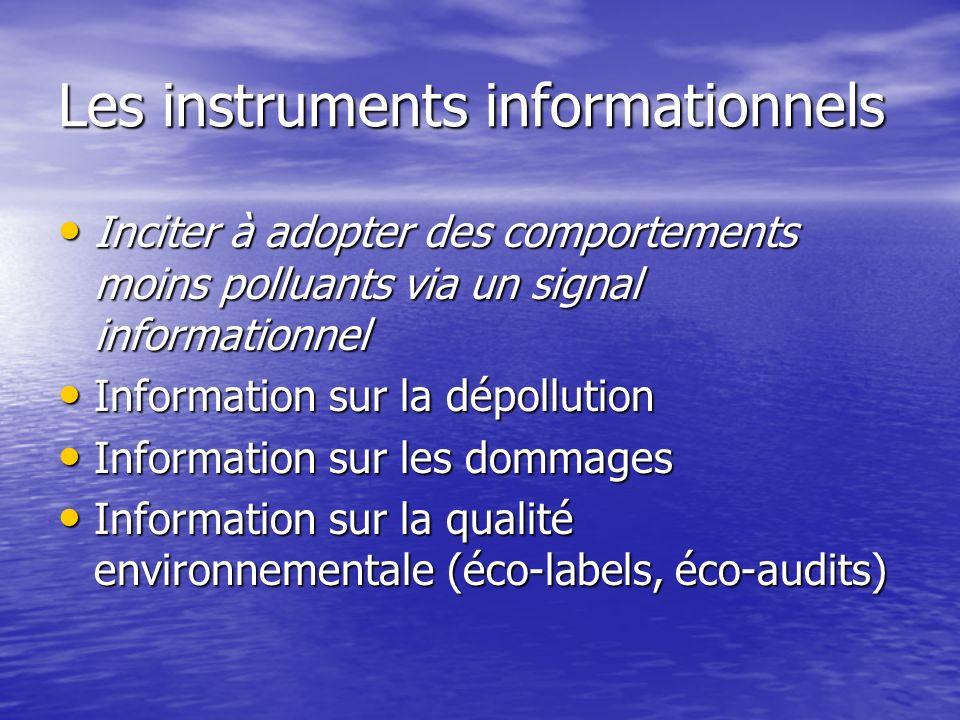 Les instruments informationnels