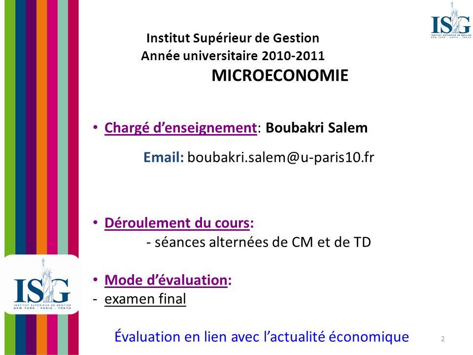 Chargé d'enseignement: Boubakri Salem