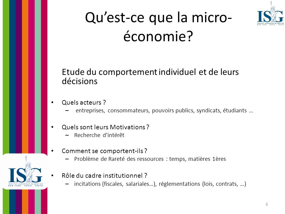 Qu'est-ce que la micro-économie
