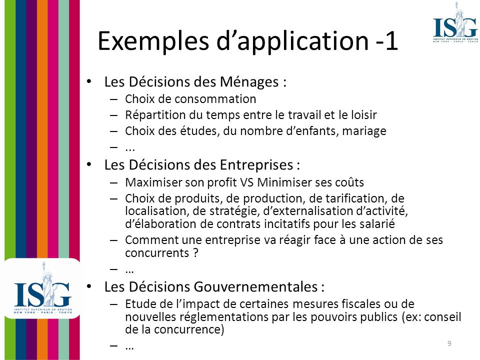 Exemples d'application -1