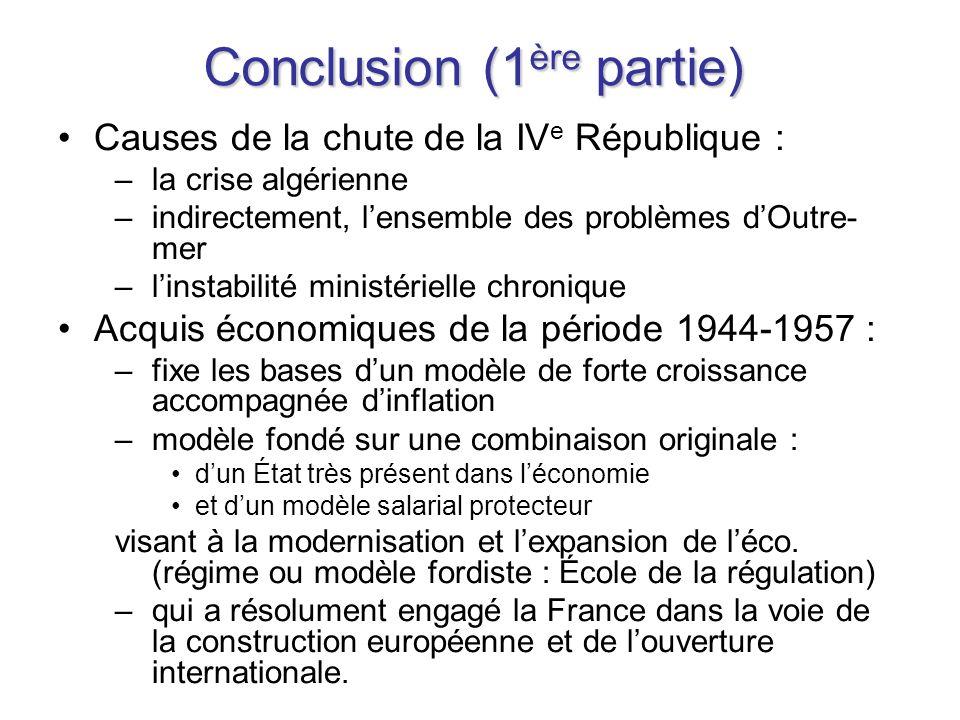 Conclusion (1ère partie)