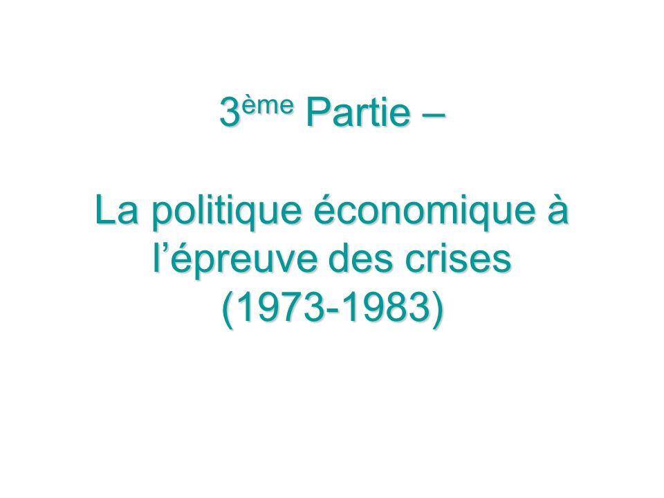3ème Partie – La politique économique à l'épreuve des crises (1973-1983)