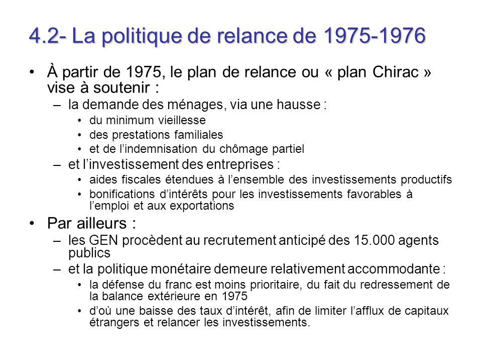 4.2- La politique de relance de 1975-1976