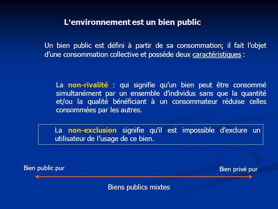 L'environnement est un bien public