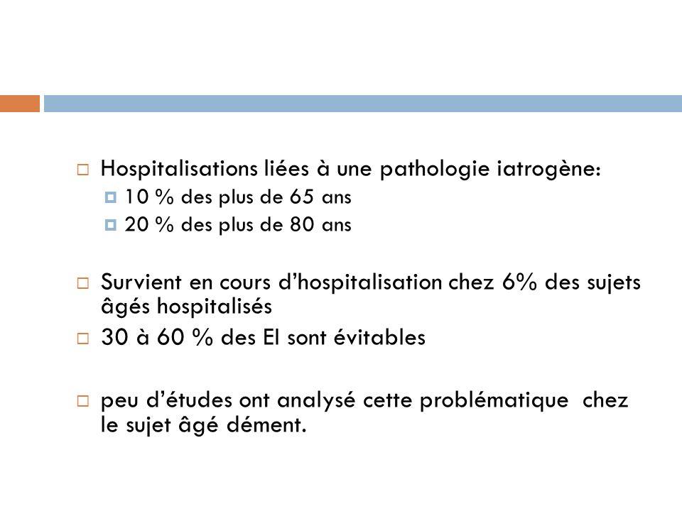 Hospitalisations liées à une pathologie iatrogène: