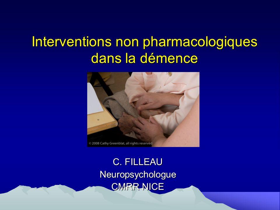 Interventions non pharmacologiques dans la démence