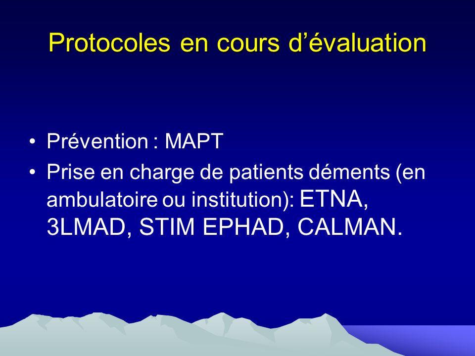 Protocoles en cours d'évaluation