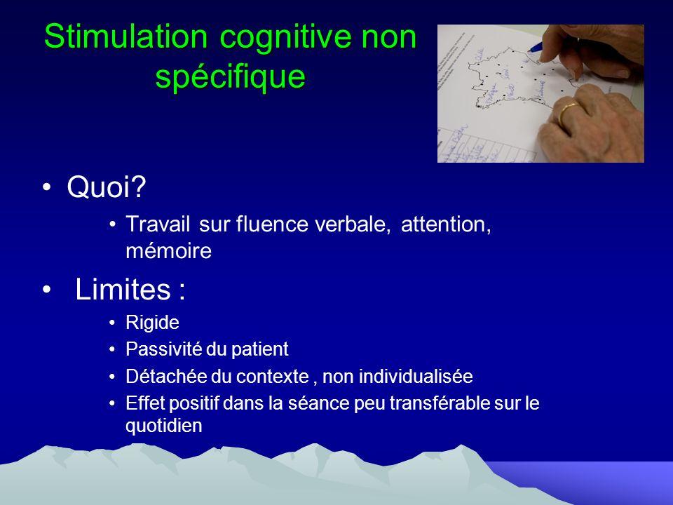 Stimulation cognitive non spécifique