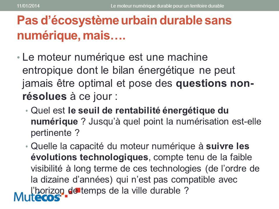 Pas d'écosystème urbain durable sans numérique, mais….