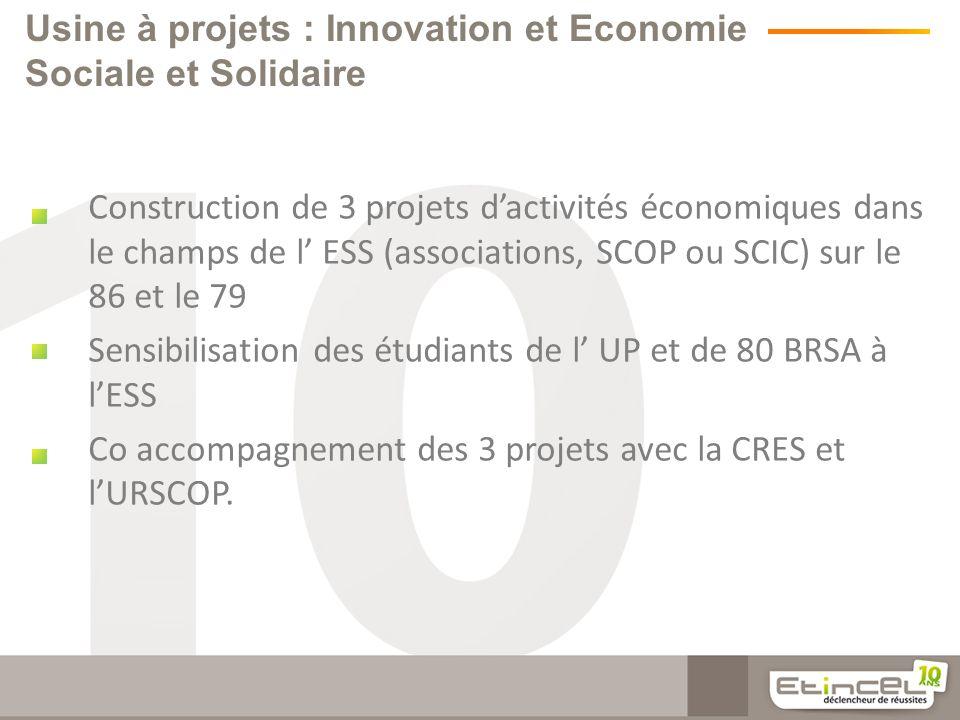 Usine à projets : Innovation et Economie Sociale et Solidaire