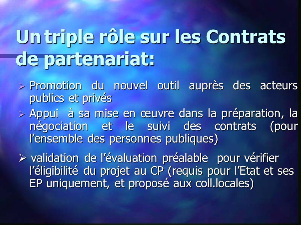 Un triple rôle sur les Contrats de partenariat: