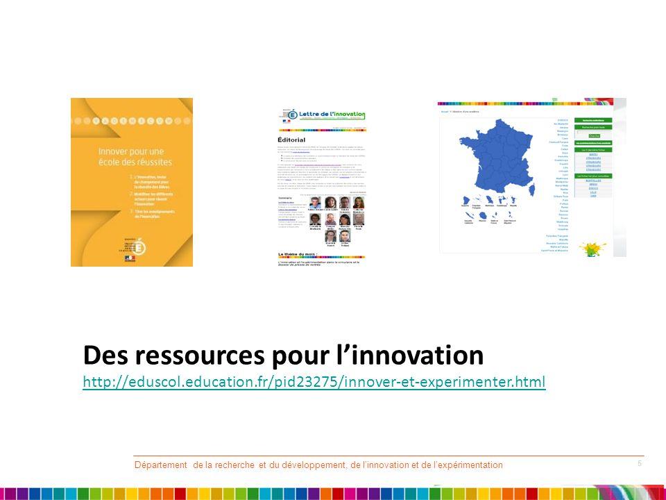 Des ressources pour l'innovation