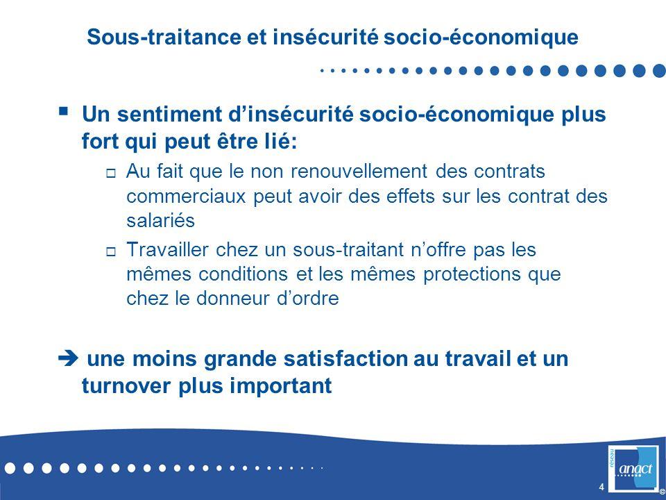Sous-traitance et insécurité socio-économique