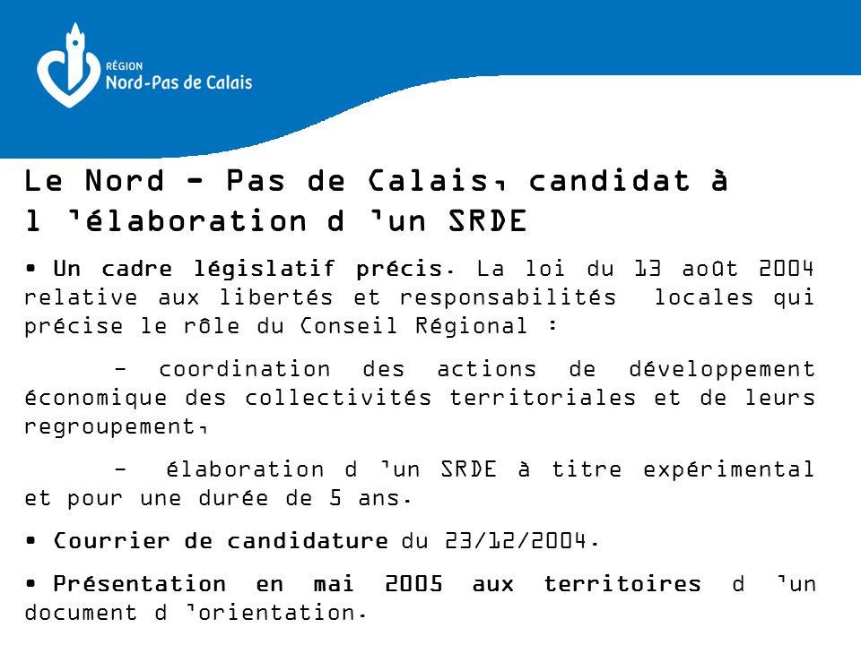 Le Nord - Pas de Calais, candidat à l 'élaboration d 'un SRDE