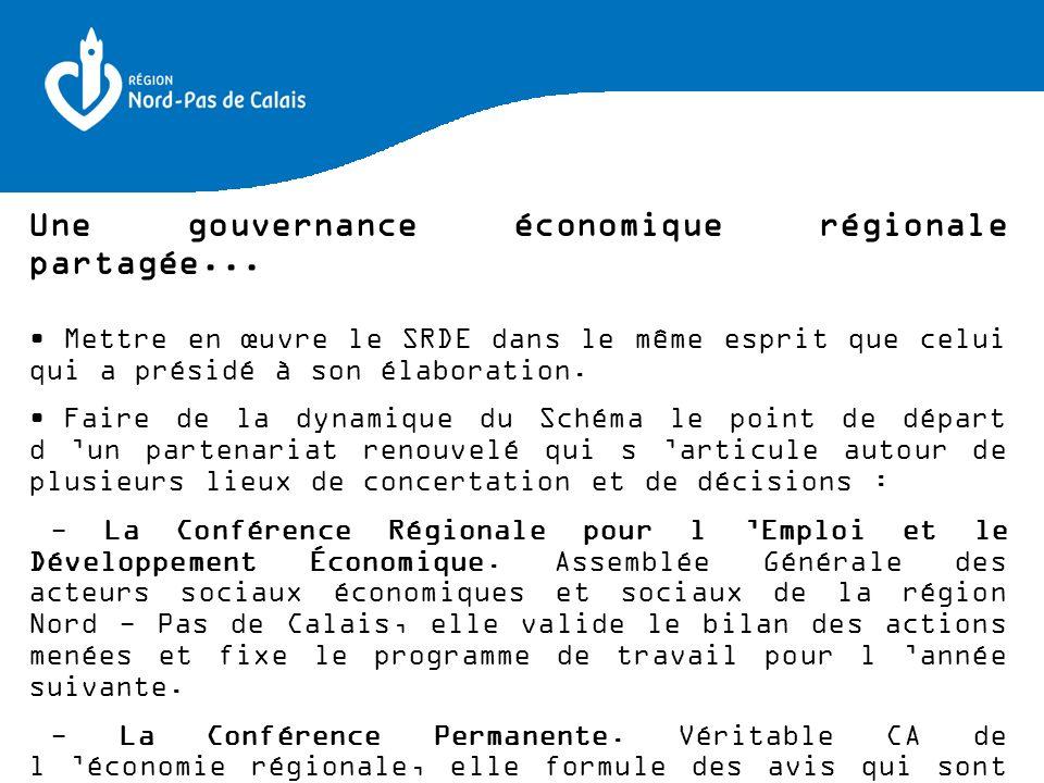 Une gouvernance économique régionale partagée...