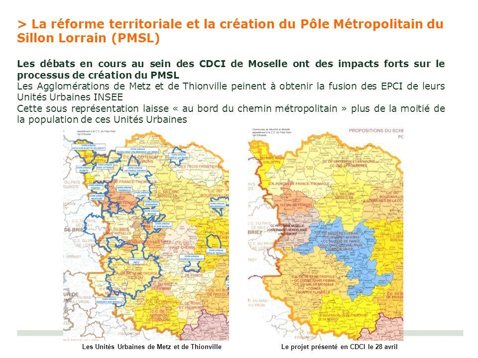 > La réforme territoriale et la création du Pôle Métropolitain du Sillon Lorrain (PMSL)