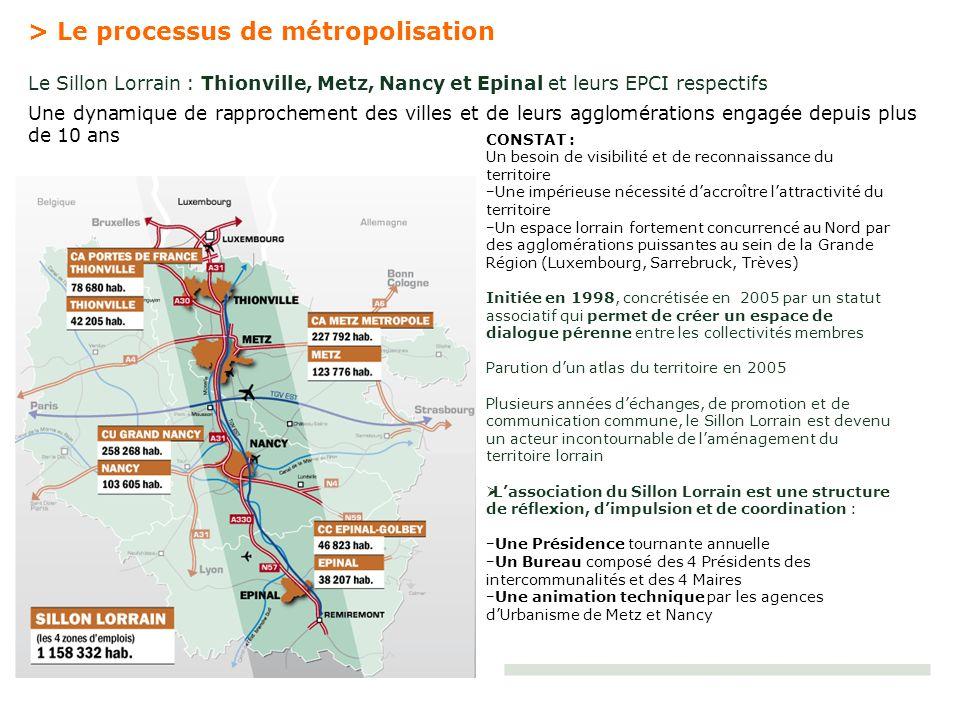 > Le processus de métropolisation