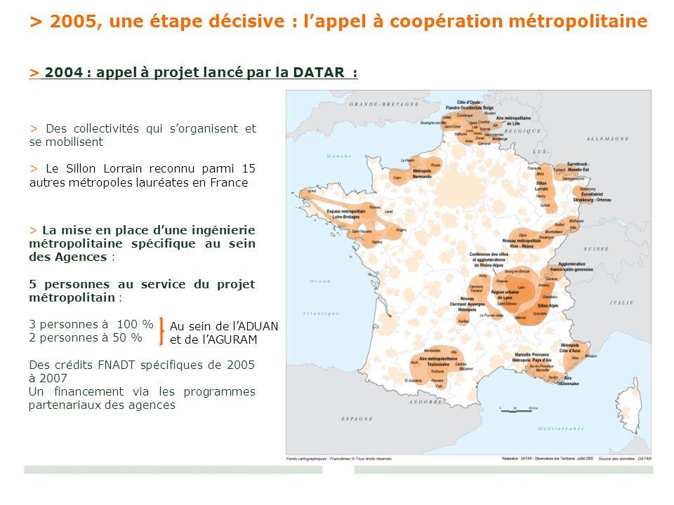 > 2005, une étape décisive : l'appel à coopération métropolitaine