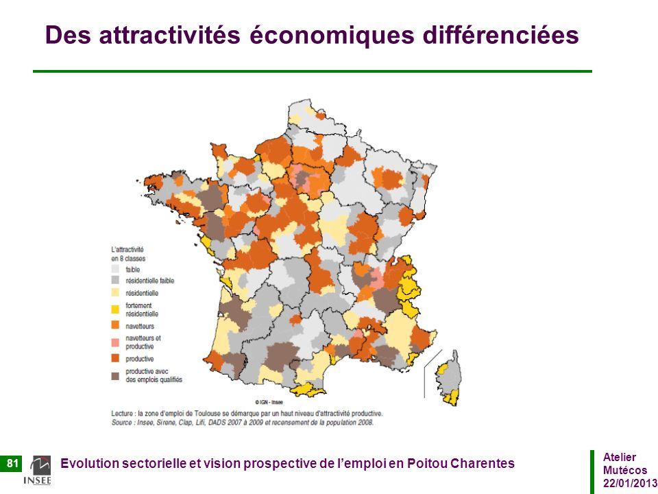 Des attractivités économiques différenciées