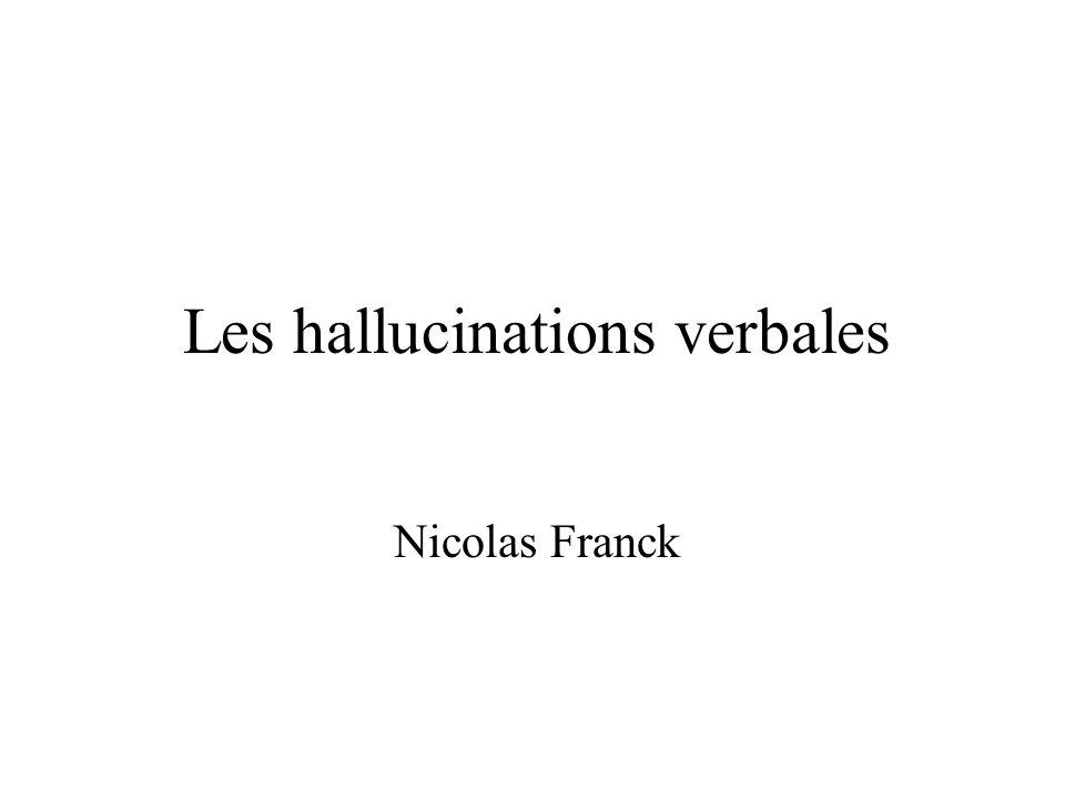 Les hallucinations verbales