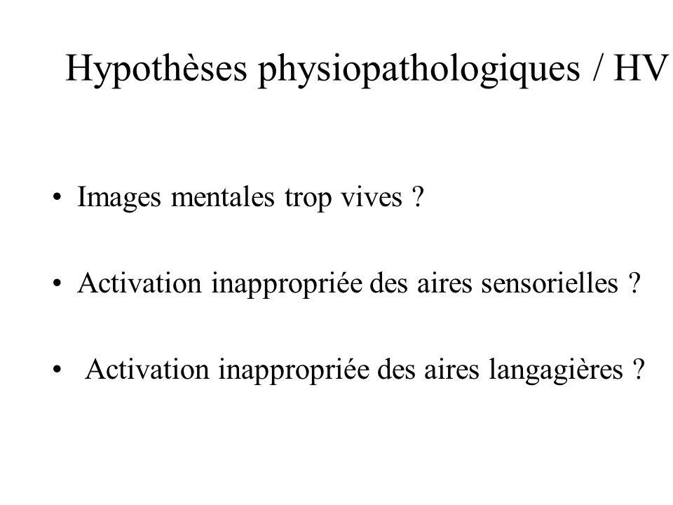 Hypothèses physiopathologiques / HV