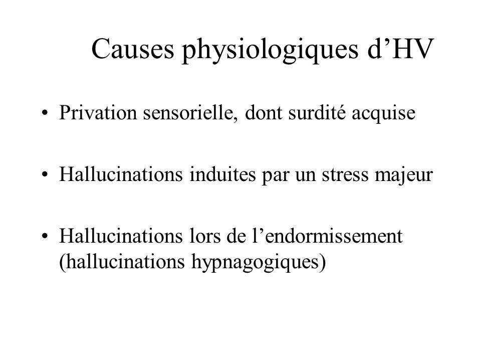 Causes physiologiques d'HV
