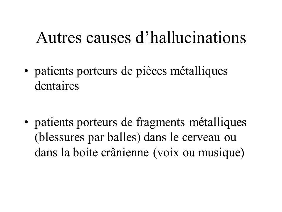 Autres causes d'hallucinations