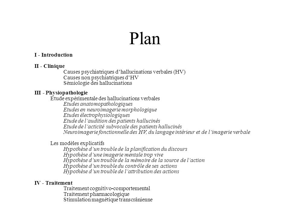Plan I - Introduction II - Clinique