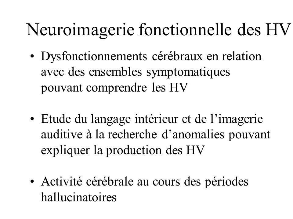 Neuroimagerie fonctionnelle des HV