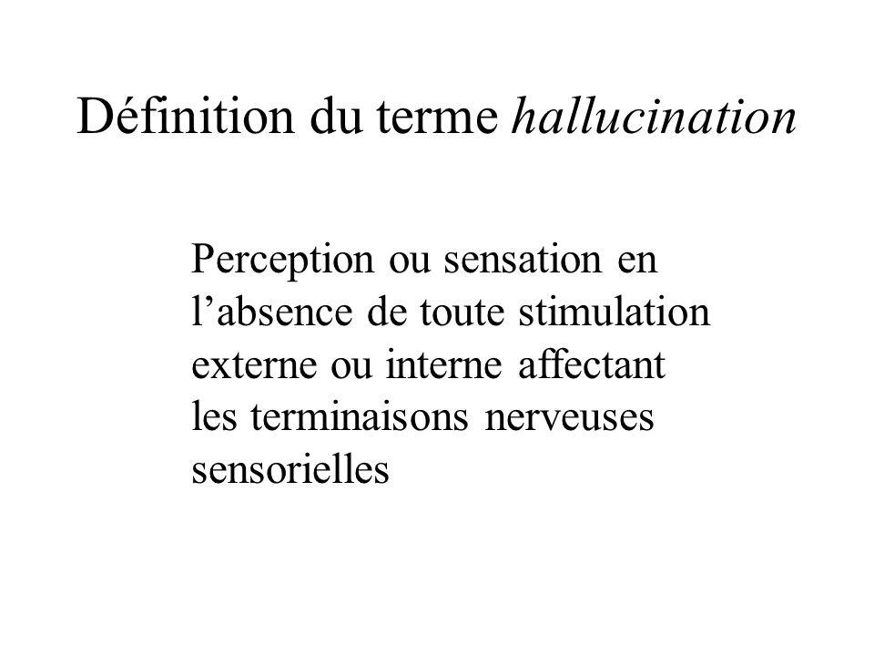 Définition du terme hallucination