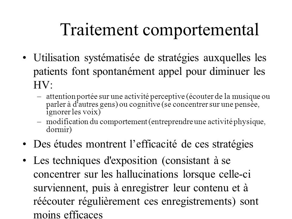 Traitement comportemental